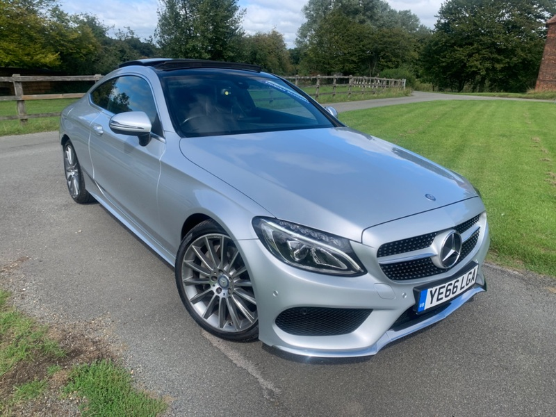 MERCEDES C CLASS C250 2.1 D AMG LINE COUPE AUTOMATIC 66K S-HIST PANORAMIC ROOF BEAUTIFUL CAR